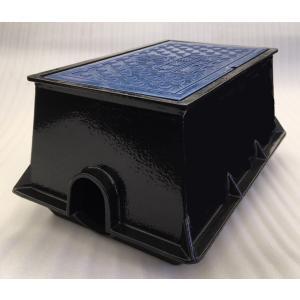 量水器ボックス 水道 メーターボックス 13mm用 T8 底板付き 耐荷重 8t 中荷重用 鋳鉄 水道管 13mm用 KYN-13S|kyoritsuic