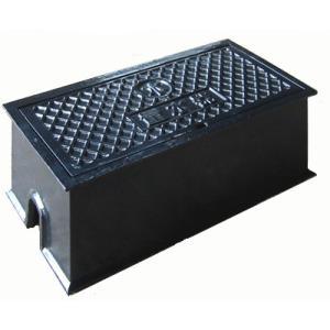 量水器ボックス 水道 メーターボックス 20-25mm用 T6 耐荷重 6t 中荷重用 鋳鉄 水道管 20-25mm用 底板無し KDE-5(R)|kyoritsuic