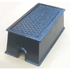 量水器ボックス 水道 メーターボックス 20-25mm用 T6 耐荷重 6t 中荷重用 鋳鉄 水道管 20-25mm用 底板無し KDE-5(T)|kyoritsuic
