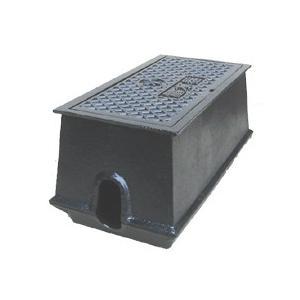 量水器ボックス 水道 メーターボックス 20-25mm用 T6 底板付き 耐荷重 6t 中荷重用 鋳鉄 水道管 20-25mm用 KDE-5S|kyoritsuic