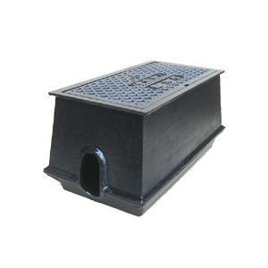 量水器ボックス 水道 メーターボックス 20-25mm用 T6 底板付き 耐荷重 6t 中荷重用 鋳鉄 水道管 20-25mm用 KDE-5KSS|kyoritsuic