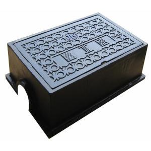 量水器ボックス 水道 メーターボックス 30-40mm用 T2 耐荷重 2t 軽荷重用 鋳鉄 水道管 30-40mm用 底板無し KM-40|kyoritsuic