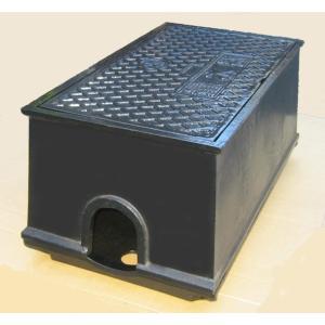量水器ボックス 水道 メーターボックス 30-40mm用 T6 底板付き 耐荷重 6t 中荷重用 鋳鉄 水道管 30-40mm用 KSK-40S|kyoritsuic