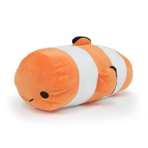 俵型ぬいぐるみクッション〈カクレクマノミ〉|kyoto-aquarium