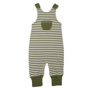【送料無料】L'ovedbaby Stripe-A-Pose Collection  キッズ ストライプ ハーレム ロンパー sap-k414 セージ/ホワイト・3歳|kyoto-bestlife