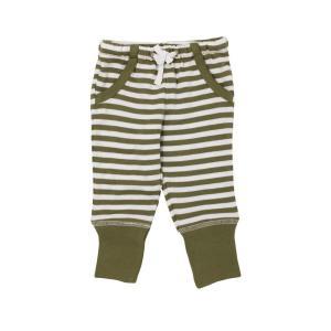 【送料無料】L'ovedbaby Stripe-A-Pose Collection  キッズ ストライプ ジョガーパンツ sap-k407 セージ/ホワイト・3歳|kyoto-bestlife