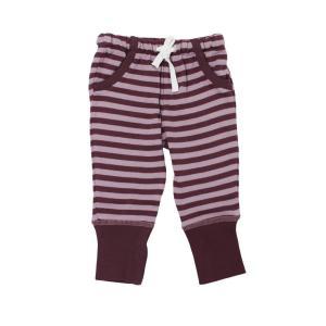 【送料無料】L'ovedbaby Stripe-A-Pose Collection  キッズ ストライプ ジョガーパンツ sap-k407 ラベンダー/エッグプラント・3歳|kyoto-bestlife