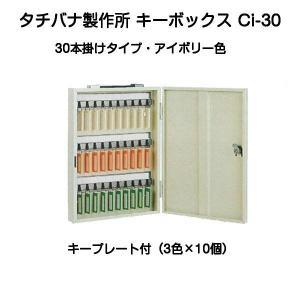 タチバナ製作所 キーボックス Ci-30 アイボリー(携帯・壁掛兼用30本掛)|kyoto-e-jiro