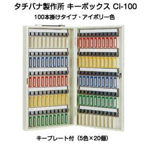 タチバナ製作所 キーボックス Ci-100 アイボリー 携帯・壁掛兼用100本掛キーボックス(エースキーボックスCI-100)|kyoto-e-jiro