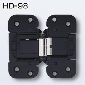ATOMアトムリビンテック折戸金具HDシステムの収納折戸用丁番HD-98黒色です。  裏面に掘込加工...