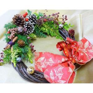 クリスマスリース手作り材料キット 生樹使用