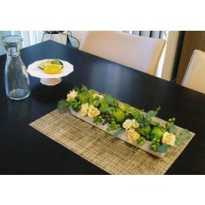 アップル ローズのフレッシュアレンジメント|kyoto-flower