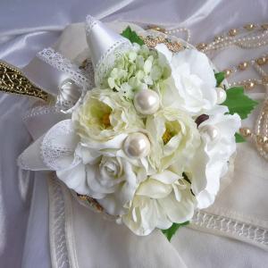 お姫さま手鏡(楽屋ミラー)ホワイトウェディング|kyoto-flower