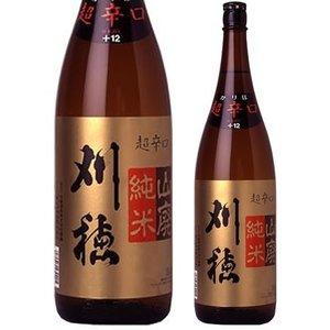 秋田 日本酒 地酒 刈穂酒造 刈穂 山廃純米 超辛口 1800ml