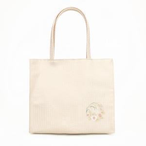 花丸文刺繍 手提げバッグ|kyoto-itochu