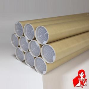 10本×@123円 B2用ポスター筒 プラスチックキャップ付き 51x550mm 紙筒 丸筒 紙管 |kyoto-marutaya