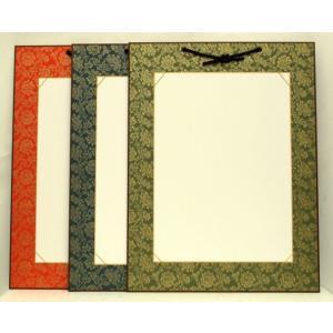 半紙掛け 333mm×242mm用 どんす模様 アクリルカバー付 ※3色から選択 壁掛け 書道 作品 展示|kyoto-marutaya