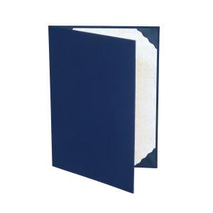 A4用orB5用【紺布表紙】2枚収納用 証書ファイル 賞状ホルダー 結婚証明書入れ サイズをお選び下さい