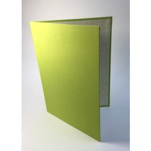 A4用【黄緑布表紙】2枚収納用 証書ファイル 賞状ホルダー|kyoto-marutaya