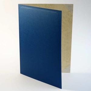 A5用【青紙表紙】1枚収納用 証書ファイル 賞状ホルダー