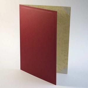 【A5用紙表紙】2収納用 えんじ色 証書ファイル 賞状ホルダー