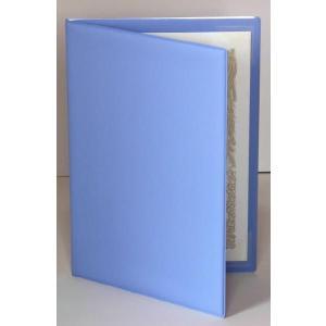 【オール塩ビ製】ライトブルー (コーナー4+透明ポケット付)  証書ホルダー|kyoto-marutaya