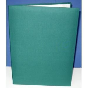 A4用orB5用【緑布表紙】パット有 1枚収納用 証書ファイ...