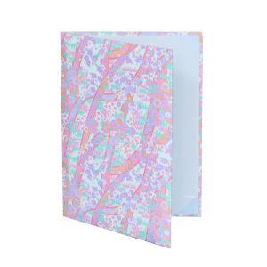 【桃色 友禅紙表紙】内張り金布 2枚収納用 パット有 賞状ファイル 証書ホルダー|kyoto-marutaya