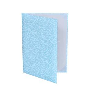 【水色桜柄 友禅紙表紙】内張り金布 2枚収納用 パット有 賞状ファイル 証書ホルダー|kyoto-marutaya