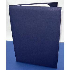 B4用 【紺布表紙】 1枚収納用 パット有 証書ホルダー・賞状ホルダー