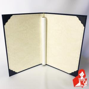 A3用 (布表紙/折れ筋の付かないタイプ)外〃コーナ4 紙管+金ゴム紐付き|kyoto-marutaya