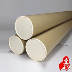 3本×420円 B1用ポスター筒 プラスチックキャップ付き 内径100mm×745mm 肉厚1,5mm 紙筒 丸筒 紙管|kyoto-marutaya
