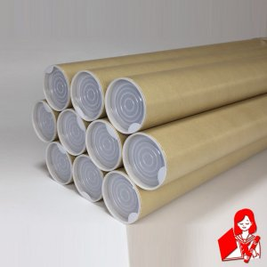 10本×@177円 A1用ポスター筒 プラスチックキャップ付き 内径51mm×650mm 紙筒 丸筒 紙管|kyoto-marutaya