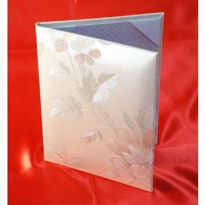 A5用【塩ビレザー表紙】1枚収納用 パールローズ 内白ツヤ布 パット有 証書ホルダー|kyoto-marutaya