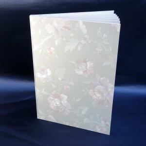 B4用【塩ビレザー表紙】12枚収納用 パールローズ 証書ファイル(※コーナー貼付セルフサービス)|kyoto-marutaya