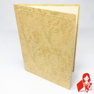 写真台紙(紙製) 2L判用 両面 クリーム 中抜きの形(タテ・楕円)|kyoto-marutaya