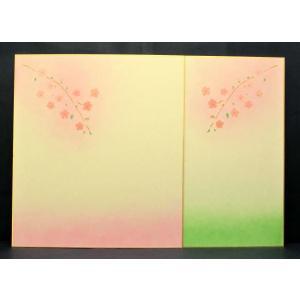 大色紙 さくら 2色 10枚セット 1枚ずつポリ袋入|kyoto-marutaya