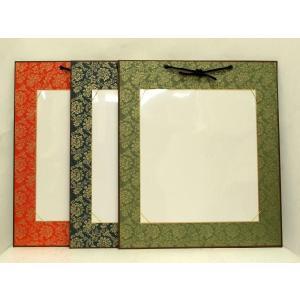 大色紙掛け 273mm×242mm用 どんす模様 アクリルカバー付 (3色から選択)【壁掛け 書道 作品 展示】|kyoto-marutaya