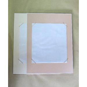大色紙掛け 273mm×242mm用 パール地 アクリルカバー付 (2色から選択)【壁掛け 書道 作品 展示】 kyoto-marutaya