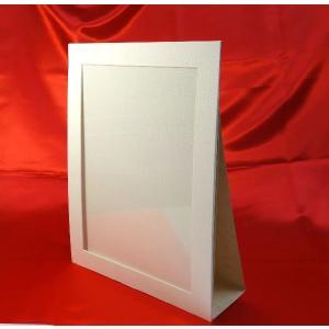 写真台紙(紙製) A4用 スタンド型 クリーム(プラスチック保護シート付き)|kyoto-marutaya