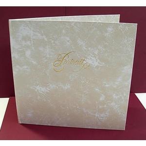 写真台紙3面 8切 スクエア 塩ビレザー表紙 白雲 中抜きの形2種類有(タテ・楕円)|kyoto-marutaya
