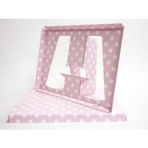 【A4用 スタンド収納箱】立てて、飾って、しまえ〜る! 水玉 ピンク色 kyoto-marutaya