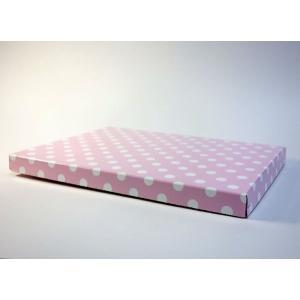 【A4用 スタンド収納箱】立てて、飾って、しまえ〜る! 水玉 ピンク色 kyoto-marutaya 03