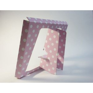 【A4用 スタンド収納箱】立てて、飾って、しまえ〜る! 水玉 ピンク色 kyoto-marutaya 05