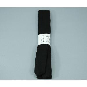 腰紐 こしひも 使いやすい すべりにくい モスリン 喪服用 黒 着付小物 腰ひも ネコポス便可|kyoto-miyabi