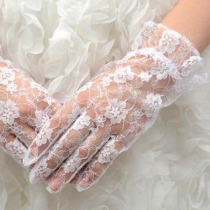 ウェディンググローブ ラッセル 一段フリル 白 ウエディング 結婚式 手袋 ブライダル ネコポス便可