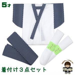 七五三 小物セット 5歳 男の子 着付け小物 3点セット (肌着 腰ひも 伊達締め)5kom-set01|kyoto-muromachi-st