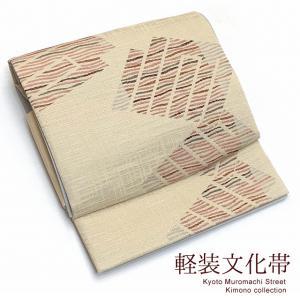 軽装帯 文化帯 お太鼓結びの作り帯 付け帯 合繊「ベージュ系、源氏香」BNO683|kyoto-muromachi-st