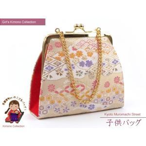 七五三に 女の子用金襴生地のバッグ「白銀系」DBG101 kyoto-muromachi-st