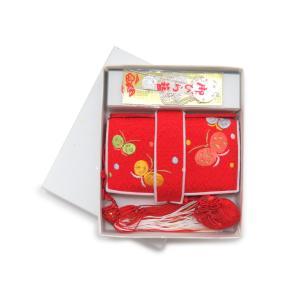 はこせこ 七五三 単品 女の子 正絹 刺繍 子供の筥迫「赤 蝶」HAK689 kyoto-muromachi-st